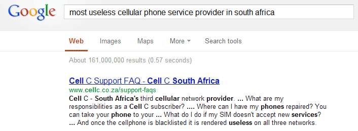 Cell-c as the most useless service provider